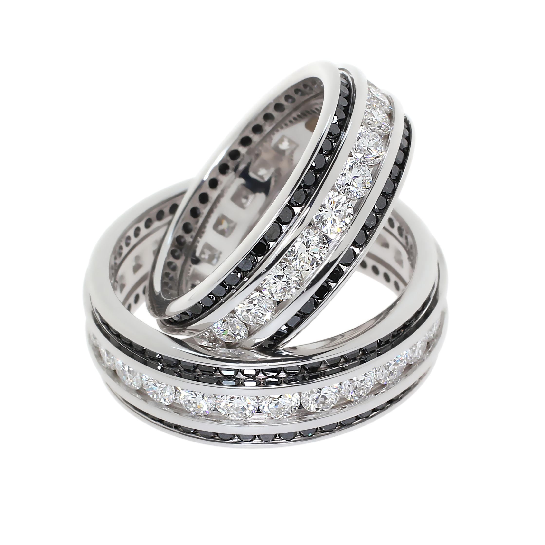 fekete és fehér gyémántok
