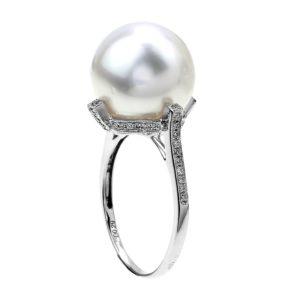 fehérarany gyöngy gyűrű