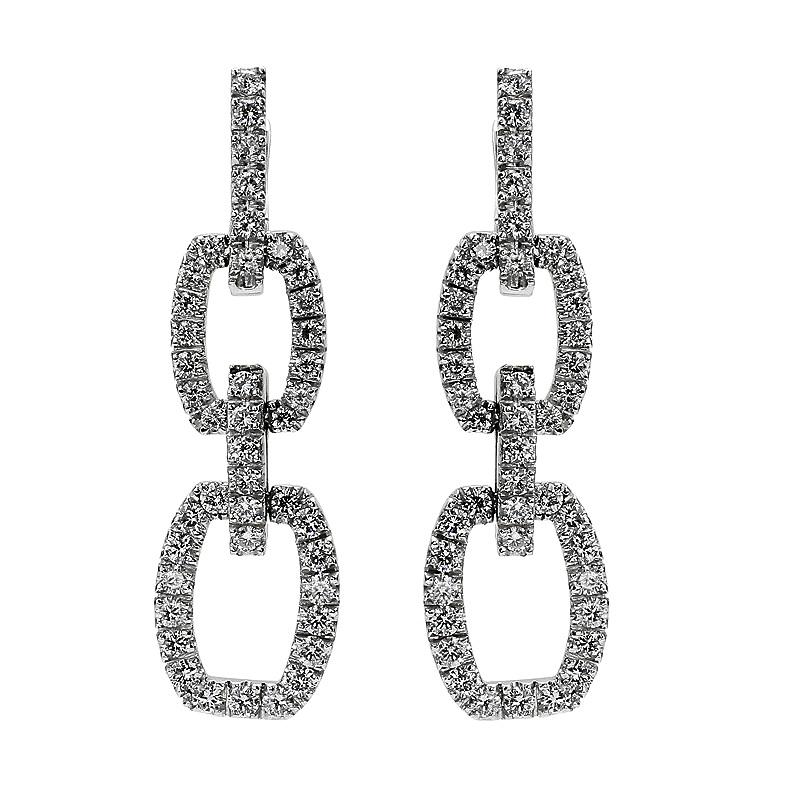 egyedi tervezésű gyémánt fülbevaló